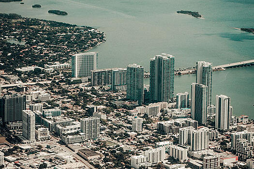 overhead view of Fort Lauderdale, Florida